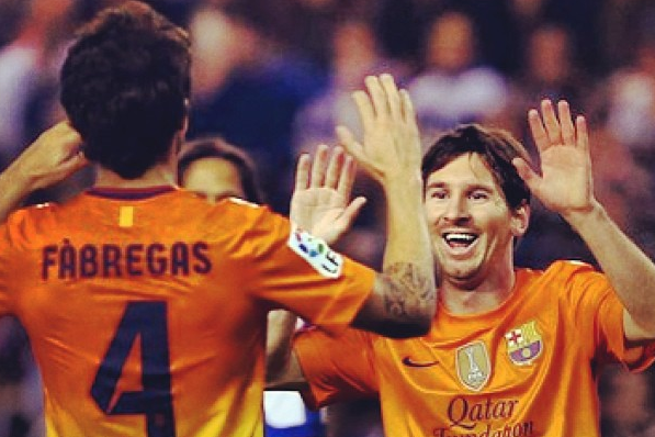 Instagram: Messi Celebrates Milestone with Fabregas