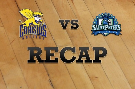 Canisius vs. St. Peter's: Recap, Stats, and Box Score
