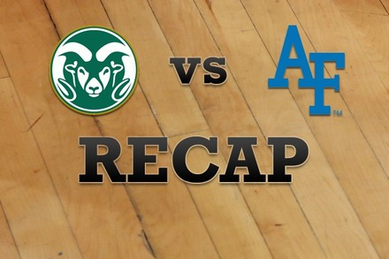 Colorado State vs. Air Force: Recap, Stats, and Box Score