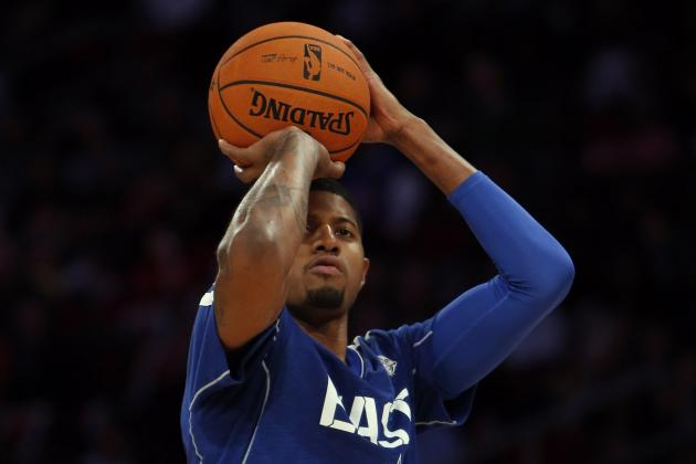 Paul George Shoots an Airball in 3-Point Contest, Finishes Dead Last