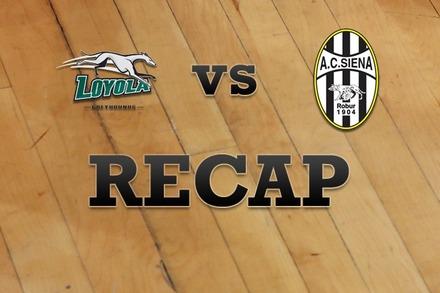 Loyola (MD) vs. Siena: Recap, Stats, and Box Score