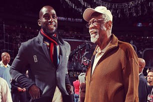 Instagram: Bill Russell and KG Hang at All-Star Weekend