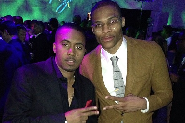 Instagram: Russell Westbrook and Nas During All-Star Weekend