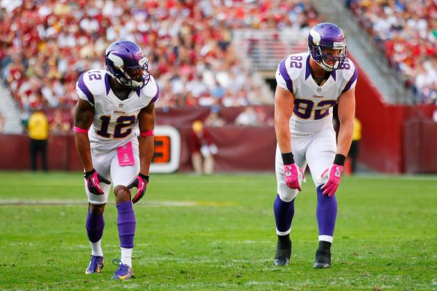 Kyle Rudolph Is a Better Fantasy Football Option with Percy Harvin on the Field