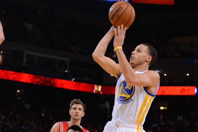 Curry Starts Slow, Finishes Strong in Three-Point Contest