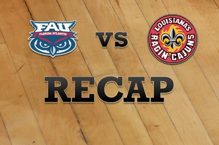 Florida Atlantic vs. LA Lafayette: Recap, Stats, and Box Score