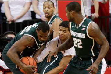Michigan State Survives at Nebraska with 73-64 Win