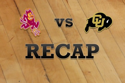 Arizona State vs. Colorado: Recap, Stats, and Box Score