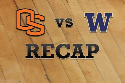 Oregon State vs. Washington: Recap, Stats, and Box Score