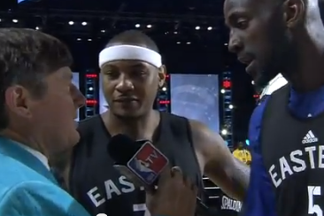 Carmelo Anthony, Kevin Garnett Team Up on Craig Sager