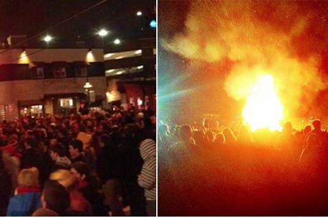 Surprise! MD Fans Riot After Duke Upset
