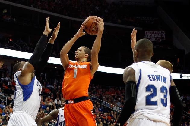 Carter-Williams Inconsistent on Offensive End in Win over Seton Hall