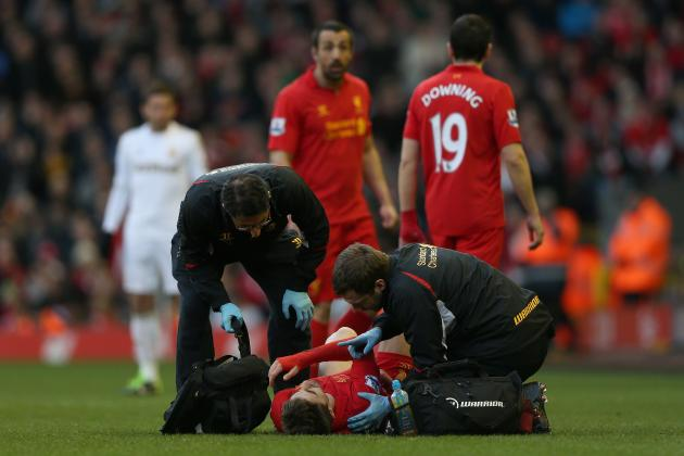 Liverpool's Fabio Borini Injured for the Remainder of the Season