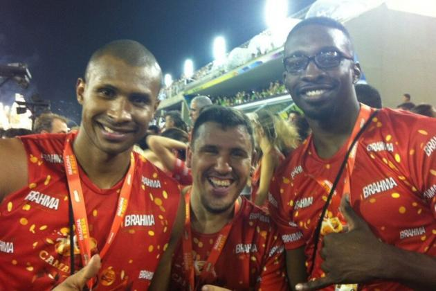 Jeff Green and Leandro Barbosa Do Carnival in Brazil