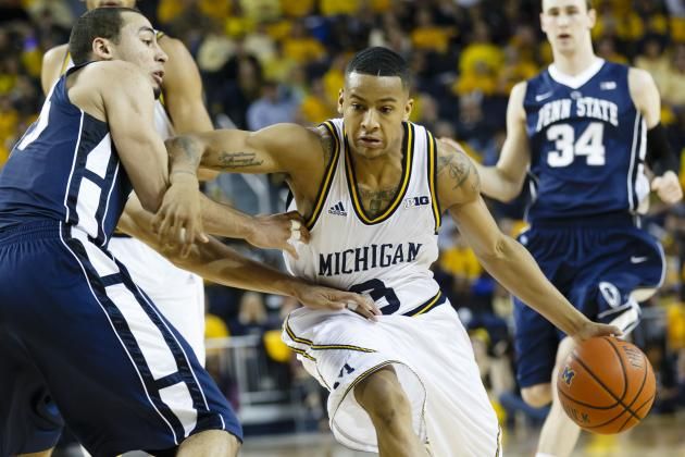 Trey Burke Helps No. 5 Michigan Pull Away from Penn State