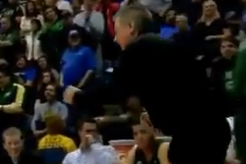 CSU Head Coach Larry Eustachy Dances Late in Saturday's Win at Air Force