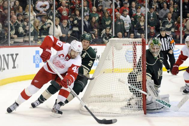 Wild Rally in Second as Wings' Slide Continues
