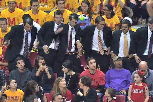 Maryland Flash Mob and 'Harlem Shake' Against Duke Was Pretty Elaborate