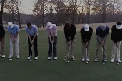 The Incredible Moment NINE Golfers Sank Simultaneous Putts in the SAME HOLE