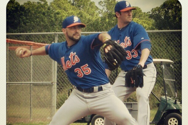 Instagram: Harvey and Gee Throwing in Tandem