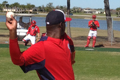 Soriano Impresses in First Bullpen Session with Nats