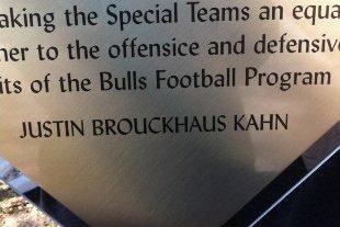 South Florida Gives Graduating Punter Special Teams Award