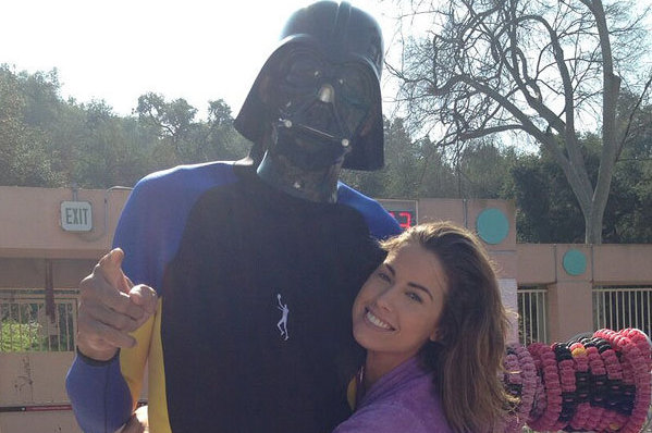 Kareem Abdul-Jabbar Dons a Darth Vader Mask, Poses with Katherine Webb