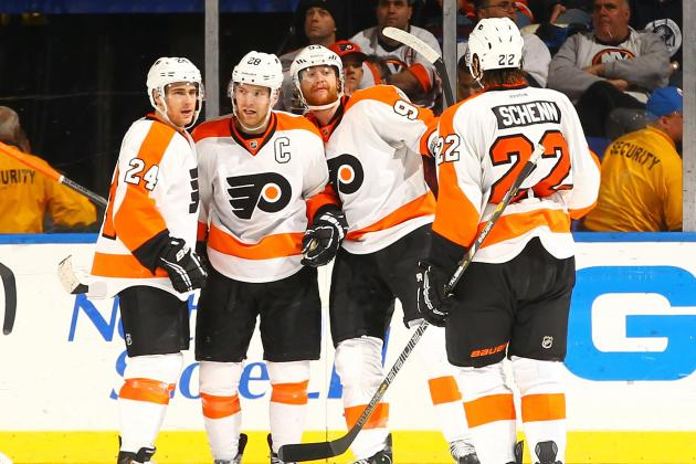 Flyers Snap Slump in Big Way with Rout of Isles