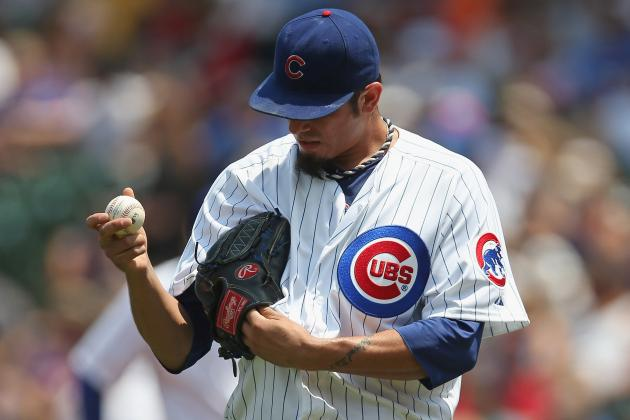 Cubs' Garza to Undergo MRI on Strained Lat