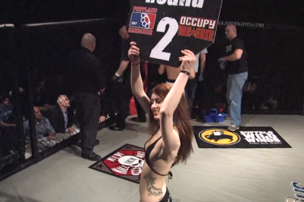 MMA Round Card Fail Girl Kristina Sprague: