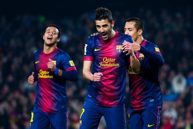 Barcelona Star David Villa Ruled out of AC Milan Champions League Clash