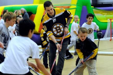 Boston Bruins Bring Smiles to Newtown