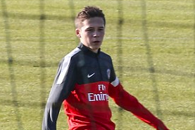 Brooklyn Beckham Joins Dad David in Training
