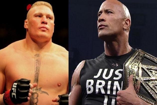 Brock Lesnar vs. The Rock Must Main Event WWE's WrestleMania 30