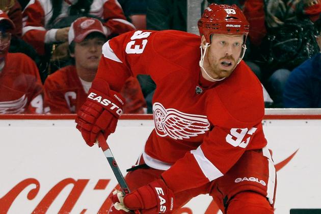 Johan Franzen, Brendan Smith Close to Returning for Red Wings