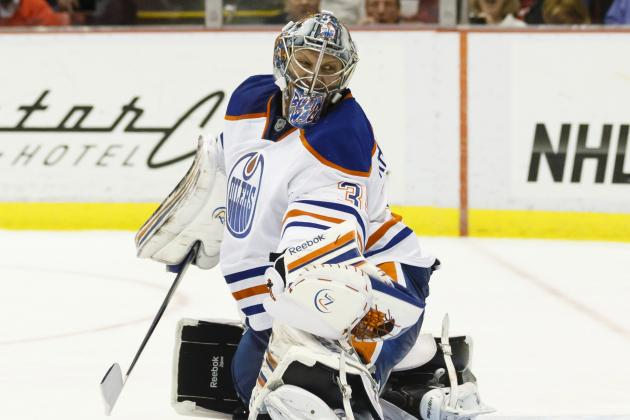Nikolai Khabibulin Gets Start for Edmonton Oilers