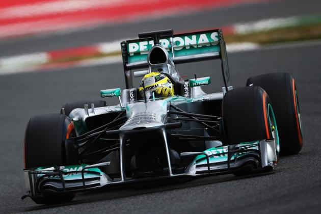 Rosberg Tops Times on Opening Day at Barcelona