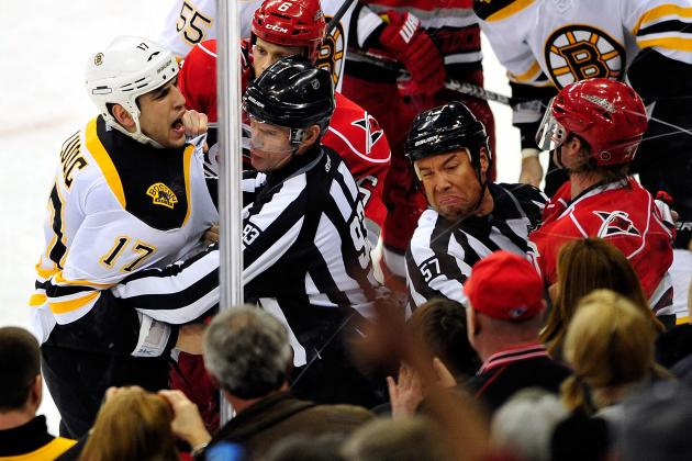 Carolina Hurricanes and Boston Bruins Developing Unusual Heated Rivalry