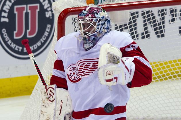 Gustavsson Replaces Howard in Net vs. Predators