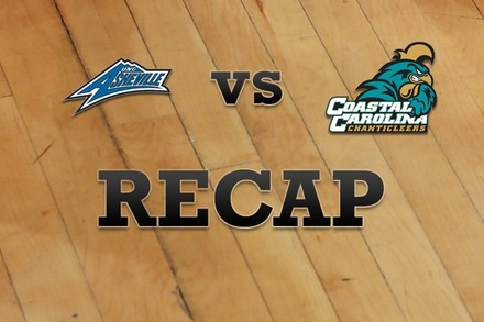 UNC Asheville vs. Coastal Carolina: Recap, Stats, and Box Score