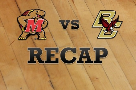 Maryland vs. Boston College: Recap, Stats, and Box Score