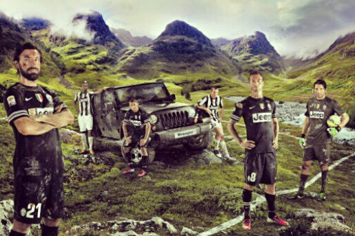 Instagram: Juventus on Jeep Commercial Set