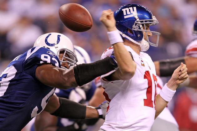 Denver Broncos QB Peyton Manning Recruiting Free Agent DE Dwight Freeney