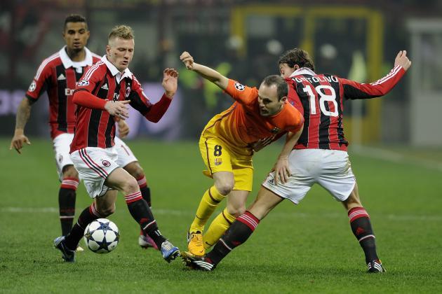 AC Milan V Barcelona: 20th Feb 2013 | Report