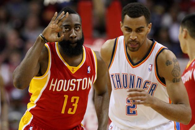 Harden and Lin Combine for 75 Points, Rockets Rally to Beat Thunder