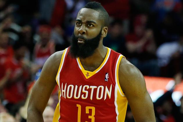 Watch James Harden Hit Half-Court Shot