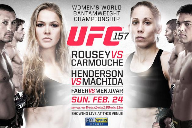 UFC 157: Fight Card, TV Info, Predictions and More for Rousey vs. Carmouche