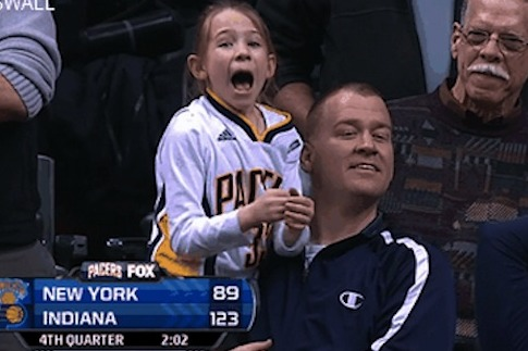 Young Excited Pacers Fan