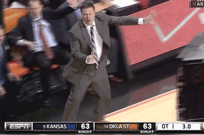 Bill Self Doing the Slide [GIF]