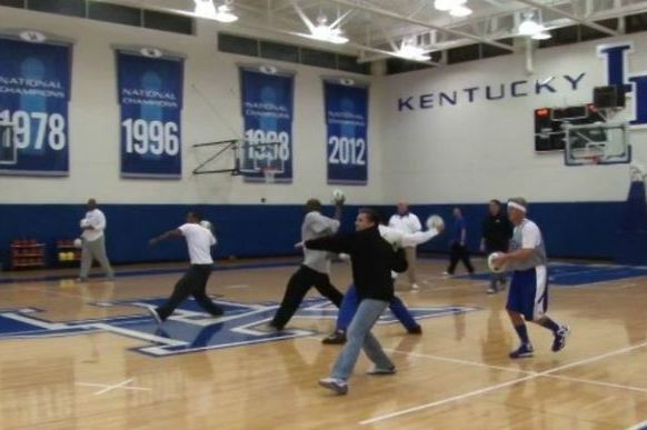 John Calipari and Kentucky Played Dodgeball Before Vandy Game